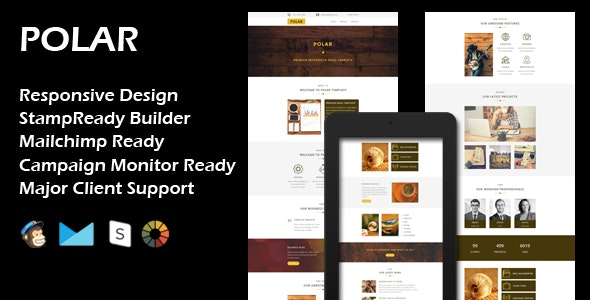 POLAR - Multipurpose Responsive Email Template + Stamp Ready Builder - Email Templates Marketing