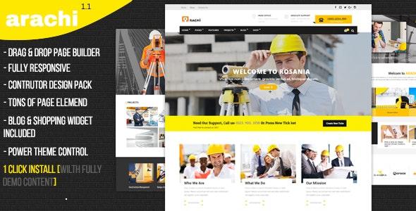 Arachi - Construction, Corporate Business Joomla 3 Responsive Templates - Business Corporate