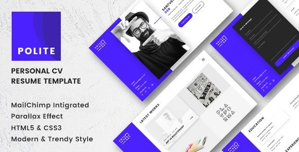 Polite - Multipage CV/Resume Template - Resume / CV Specialty Pages