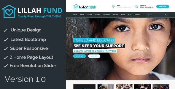 Lillah Fund || Charity and help HTML5 template - Charity Nonprofit