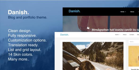 Danish - Blog and Portfolio WordPress Theme - Blog / Magazine WordPress