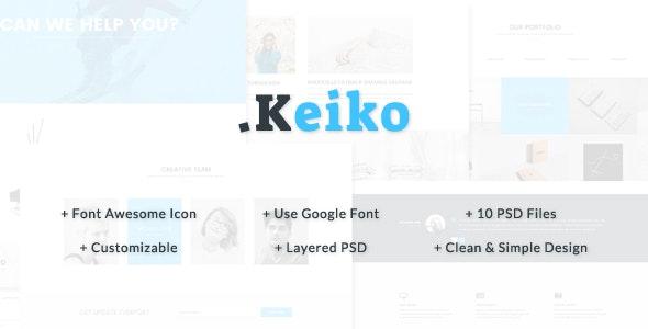 Keiko - Multipurpose Business PSD Template - Corporate PSD Templates