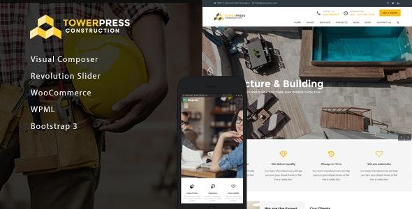 TowerPress - Building Construction WordPress Theme - Business Corporate