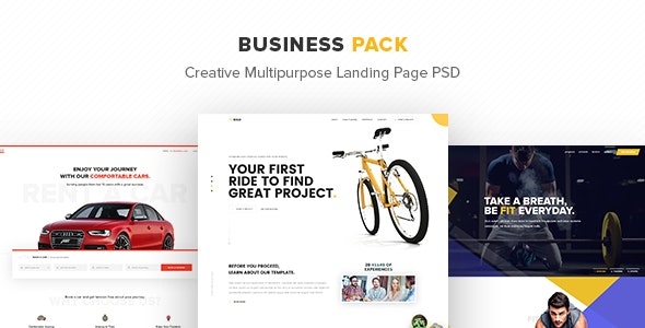 Business Pack – Creative Multipurpose Landing Page PSD - Marketing Corporate