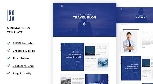 ROJA - Minimal Wordpress Blog Template - Miscellaneous Photoshop