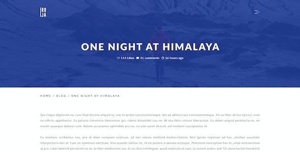 ROJA - Minimal Wordpress Blog Template