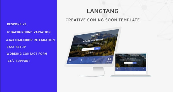 Langtang - Coming Soon Template - Under Construction Specialty Pages