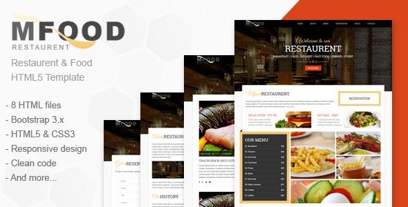 Mfood - Restaurent and Food HTML5 Template - Restaurants & Cafes Entertainment