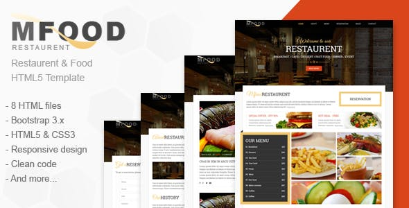 Mfood - Restaurent and Food HTML5 Template