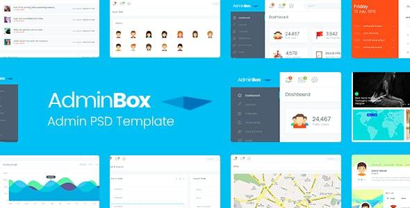 Adminbox Admin PSD Template