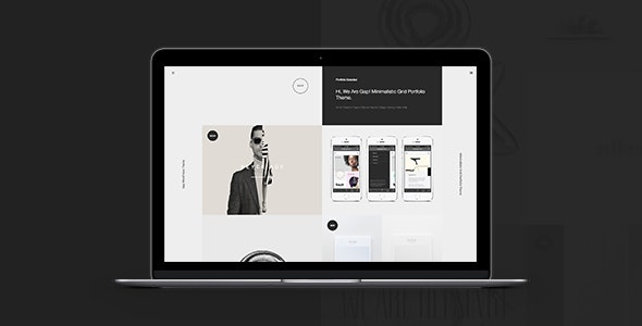 Gap: Minimalistic Grid Portfolio Theme - Portfolio Creative