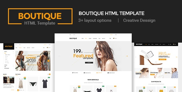 Boutique - Ecommerce Template - Shopping Retail