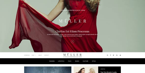 Muller - Blog, Magazine and News PSD Template