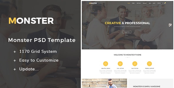 Monster - PSD Creative Business - Creative PSD Templates