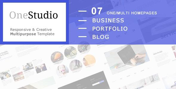 OneStudio - Responsive & Creative Multipurpose HTML5 Template - Corporate Site Templates
