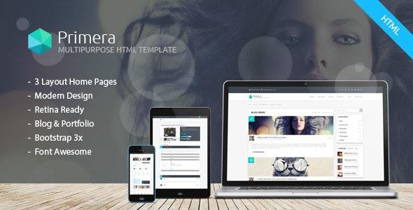 Primera - Business Multipurpose Responsive HTML5 Template - Business Corporate