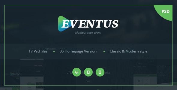 Eventus - Multipurpose Event PSD Templates - Events Entertainment