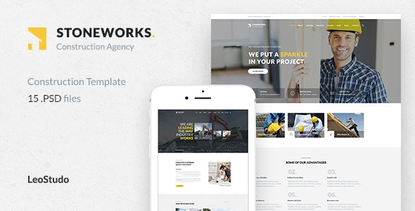 Stoneworks - Construction PSD Template - Business Corporate