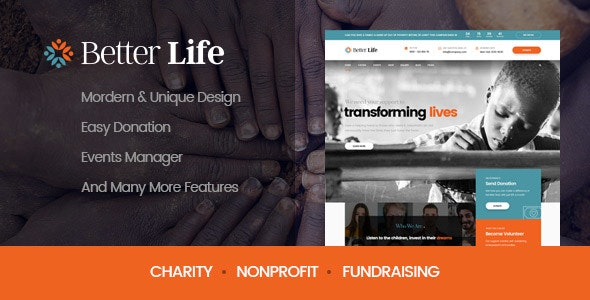 BetterLife | Charity WordPress Theme - Charity Nonprofit