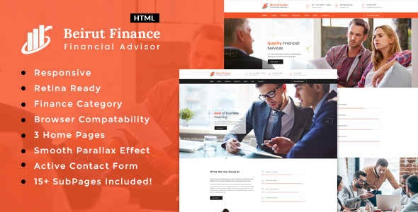 Beirut : Finance and Consultancy Template - Business Corporate