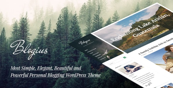 Blogius   Powerful Responsive Personal Blog Theme - Personal Blog / Magazine