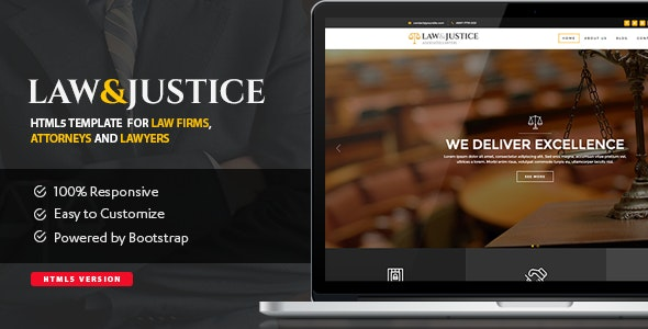 Law&Justice: Attorney Lawyer HTML5 Template - Business Corporate