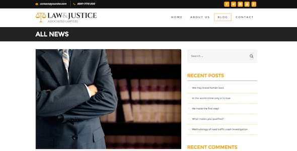 Law&Justice: Attorney Lawyer HTML5 Template