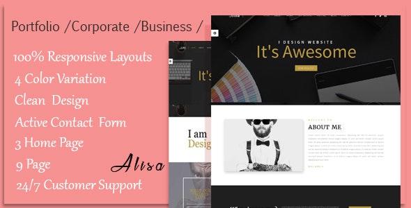 Alisa - Responsive Corporate, Business, Creative , Portfolio & Blog Template - Business Corporate