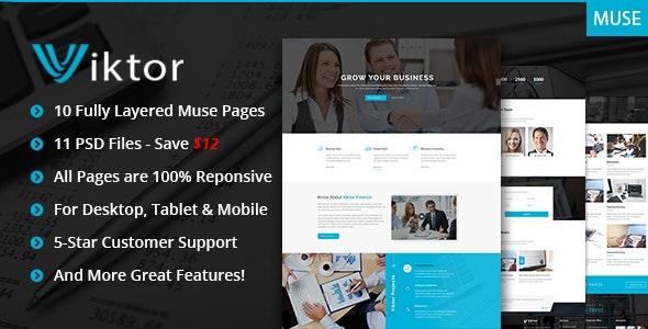 Viktor - Responsive Corporate Muse Theme - Corporate Muse Templates