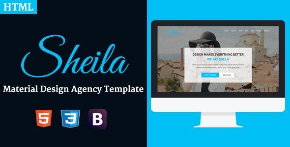 Sheila - Material Design Agency Template - Portfolio Creative