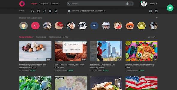 Circle: Video Sharing Website PSD Template