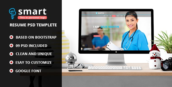 Smart - Personal Profile PSD Template  - Personal Photoshop
