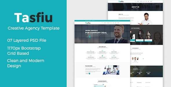 Tasfiu - Corporate PSD Template - Corporate Photoshop