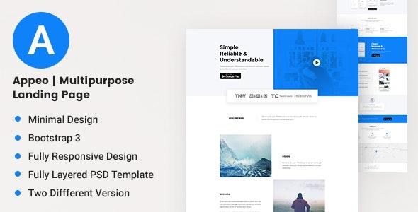 Appeo | Multipurpose Landing Page - Retail Landing Pages