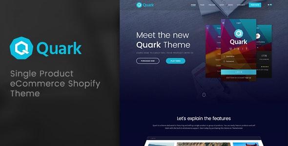 Quark - Single Product Shopify Theme - Shopify eCommerce