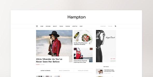 Hampton - Magazine PSD Template - Personal PSD Templates