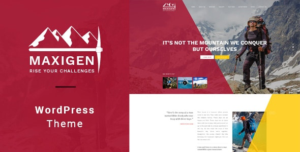 Maxigen - Hiking & Outdoor WordPress Theme - Travel Retail