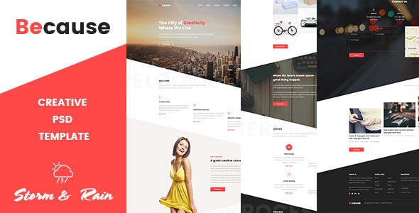 Because - Creative Psd Template - Experimental Creative