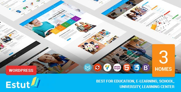 Estut | Education WordPress Theme - Material Design - Online Course E-Learning - eCommerce - Education WordPress