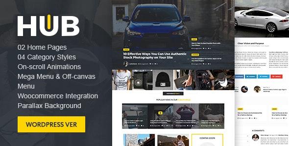Hub Magazine WordPress theme - Blog / Magazine WordPress