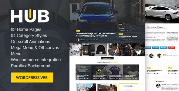 Hub Magazine WordPress theme