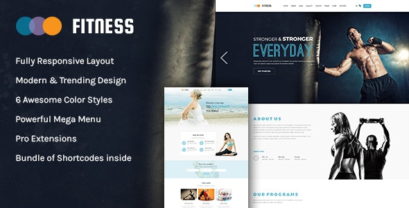 Fitness - Gym & Yoga WordPress Theme - Health & Beauty Retail