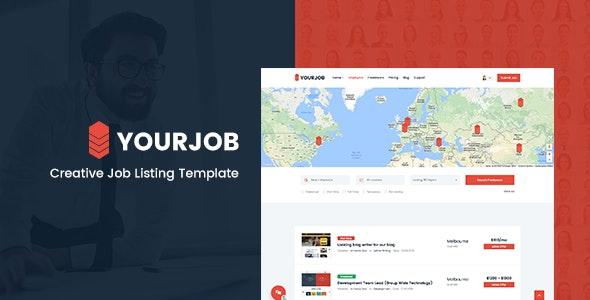 YourJob Job Listing, Job Portal Directory Responsive Site Template