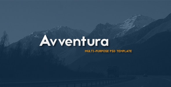 Avventura - Multipurpose PSD Template - Photoshop UI Templates