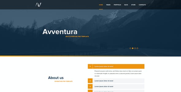 Avventura - Multipurpose PSD Template
