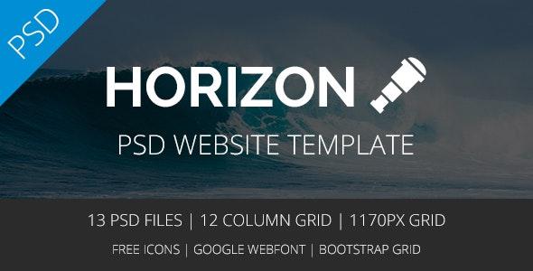Horizon - Multipurpose PSD Template - Corporate Photoshop