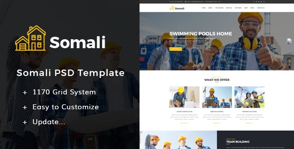Somali - Construction PSD Templates  - Business Corporate