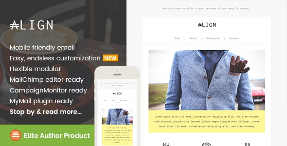 Align, Minimaist Fashion Email + Builder Access - Newsletters Email Templates