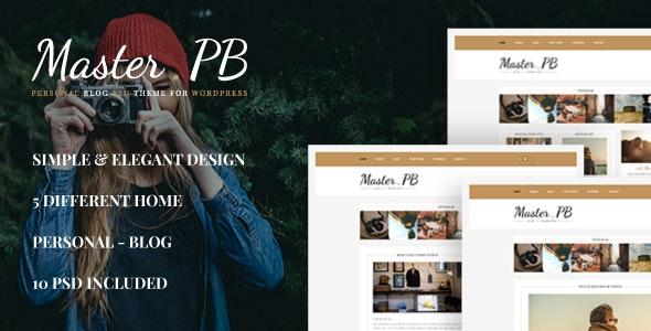 Master PB - Personal Blog PSD - Personal PSD Templates
