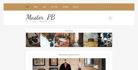 Master PB - Personal Blog PSD